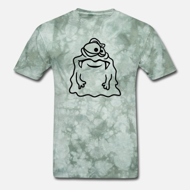 Monster Slimy glibber slime disgusting slimy face head monster f - Men's T-Shirt