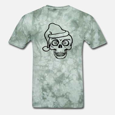 Christian Designs horror eyes cool skull christmas santa claus skele - Men's T-Shirt