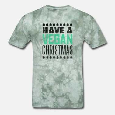 Trend Animal Christmas Christmas Funny saying vegan - Men's T-Shirt