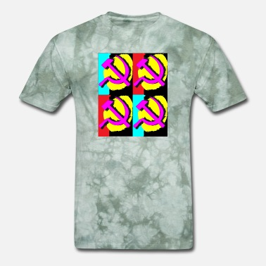 Soviet Style Pop-art style Hammer and sickle - Men's T-Shirt