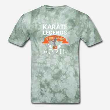 Karate Kid Quote Karate legends are born in April Boys - Men's T-Shirt