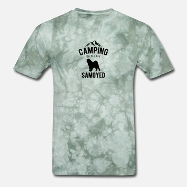 Go Camping Camping With My Samoyed Dog Lover Puppy - Men's T-Shirt
