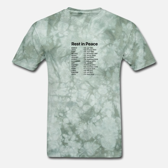 Bipolar T-Shirts - NOT JUST SAD DEPRESSION AWARENESS Shirt RIP - Men's T-Shirt military green tie dye
