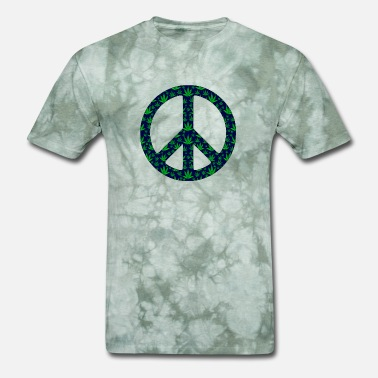 Pots Symbol Weed Peace Sign - Men's T-Shirt
