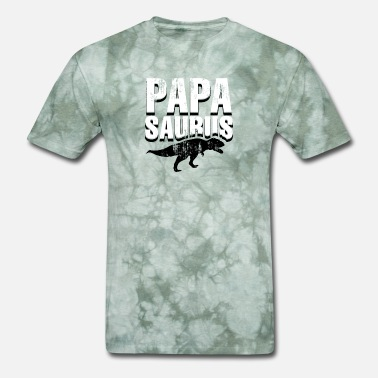 Grunge Mens Papasaurus - Funny Father's Day Gift - Men's T-Shirt
