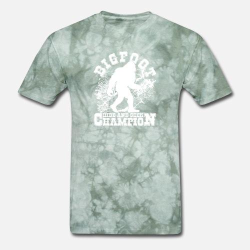 c766d81d Hide T-Shirts - Bigfoot (Hide and seek Champion) Bigfoot hunter - Men's. Do  you want to edit the design?