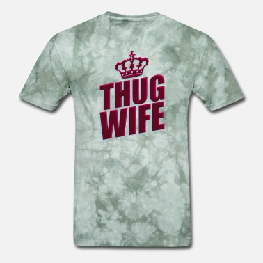 Freundin thug wife queen krone prinzessinn königin 3d logo - Men's T-Shirt