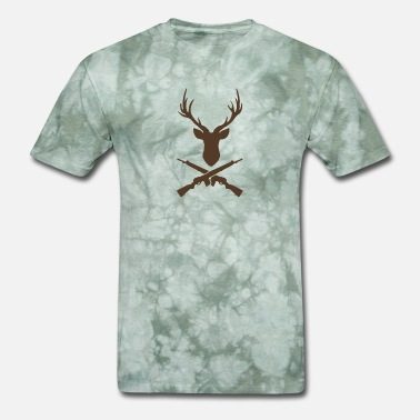 Guns Head Deer Head And Guns funny tshirt - Men's T-Shirt