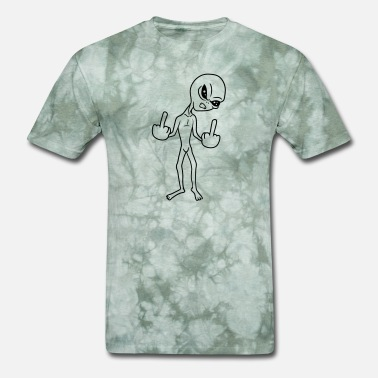 Alien Insults insult wanker middle finger fuck you off angry ali - Men's T-Shirt
