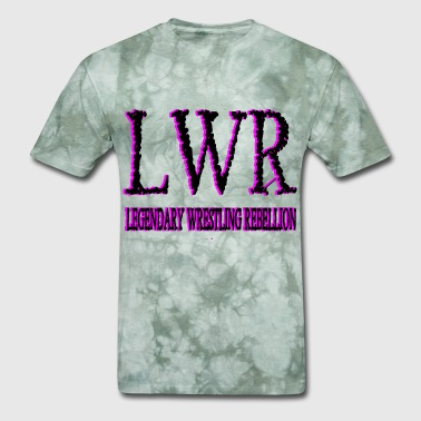 Wrestle Heart LWR Black and Pink Logo - Men's T-Shirt