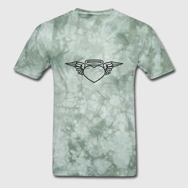 Heart With Wings tattoo heart wings dead death fly god halo shirt a - Men's T-Shirt