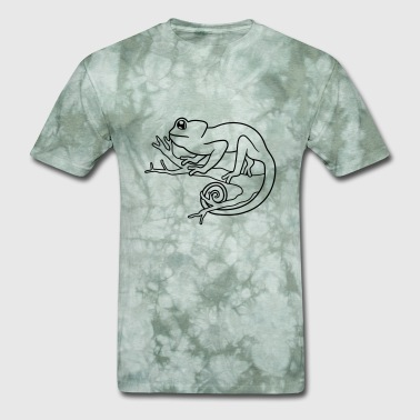 Asterisk climb branch forest tree trunk cool chameleon igua - Men's T-Shirt
