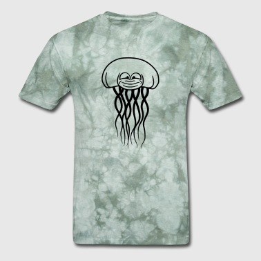 funny face cool beautiful jellyfish swimming under - Men's T-Shirt