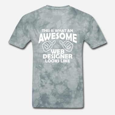 Web Developer Funny Awesome web designer - Men's T-Shirt