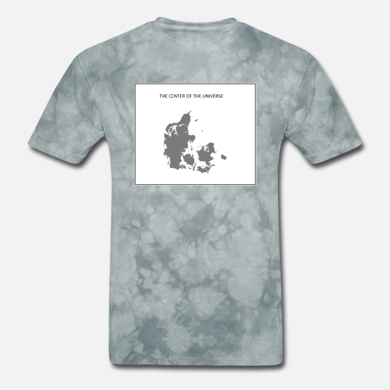 Center T-Shirts - DENMARK - CENTER OF THE UNIVERSE - Men's T-Shirt grey tie dye