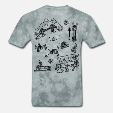 Canada Theme vancouver Canada themed hand drawn cute artwork - Men's T-Shirt