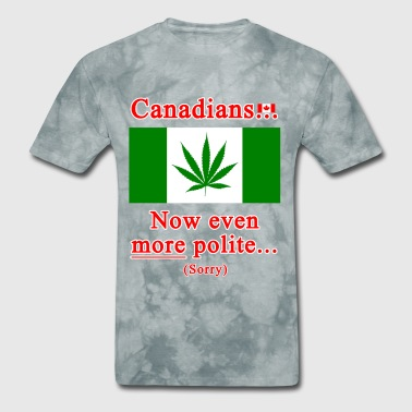 Canadians now even more polite sorry - Men's T-Shirt
