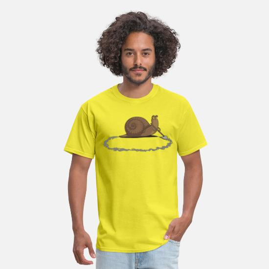 Funny T-Shirts - Clever Snail - Men's T-Shirt yellow