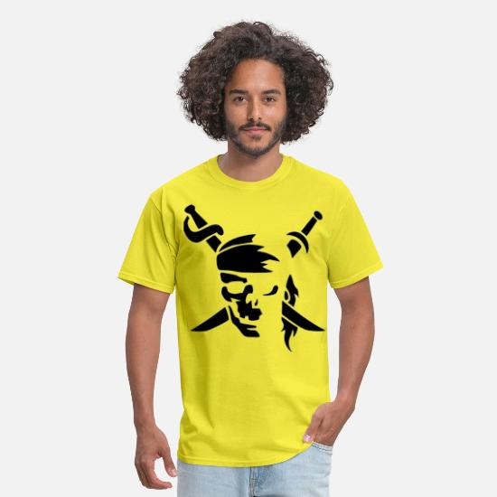 Fillet T-Shirts - ninja , fatal , fight - Men's T-Shirt yellow