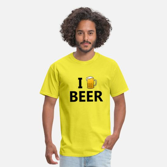Alcohol T-Shirts - I love beerI love beer - Men's T-Shirt yellow