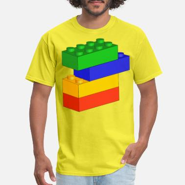 Block Building Blocks - Men's T-Shirt