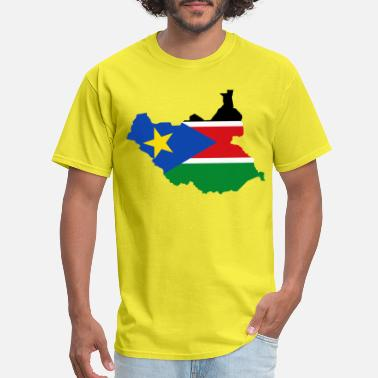 South Sudan South Sudan Flag Map - Men's T-Shirt