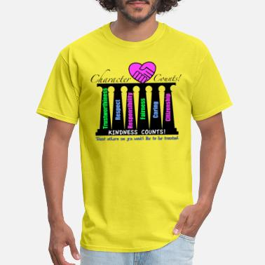 Pillars Character Counts 6 Pillars of Character - Men's T-Shirt