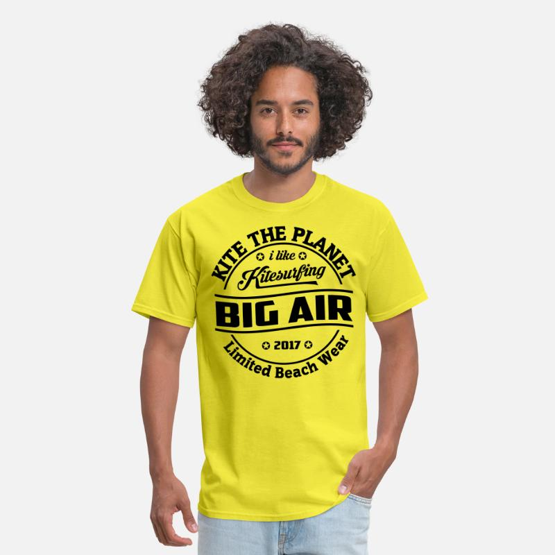 Beach T-Shirts - Kite The Planet Big Air free color - Men's T-Shirt yellow