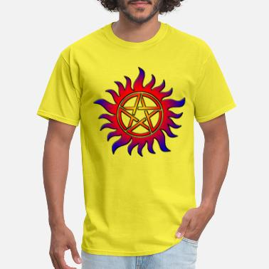 Nazi Symbols Anti Possession Symbol Sun Fire - Men's T-Shirt