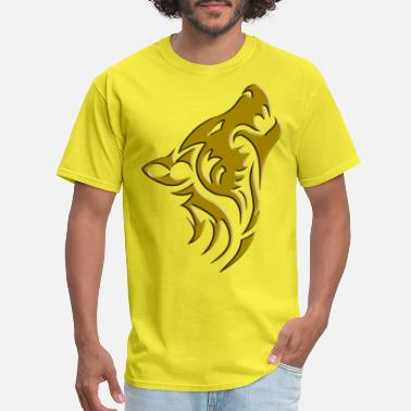 Wolf Collection mens wolf collection tee shirt gold - Men's T-Shirt
