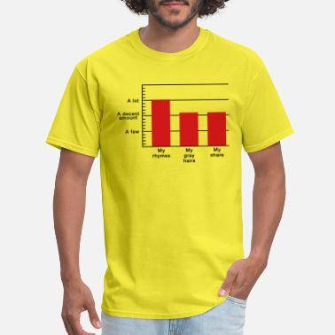 Adam Rhymes to Gray Hairs Bar Graph - Men's T-Shirt