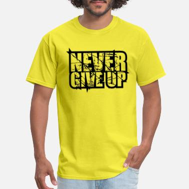 Tear tears scratches design logo never give up never gi - Men's T-Shirt