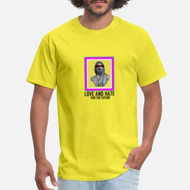 Blindfolded PICTURE LOVE AND HATE - Men's T-Shirt