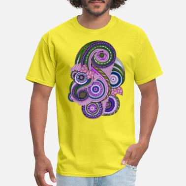 Geometric Mandala Style Design (14) - Men's T-Shirt