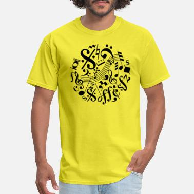 Music Note Music Notes and Signs - Men's T-Shirt