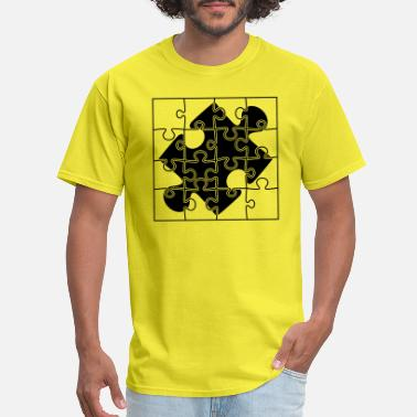 Ticket puzzle piece puzzle part puzzle puzzle piece puzzl - Men's T-Shirt
