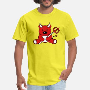 Demon devil satan evil hell demon teddy grizzly bear bea - Men's T-Shirt