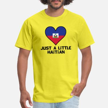 Funny Haitian Just A Little Haitian - Men's T-Shirt