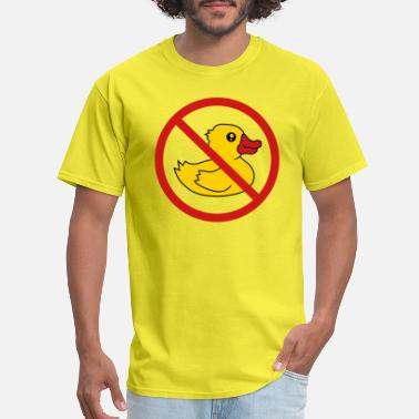 Ru Cartoon prohibited zone sign symbol sign no squeak duck ru - Men's T-Shirt
