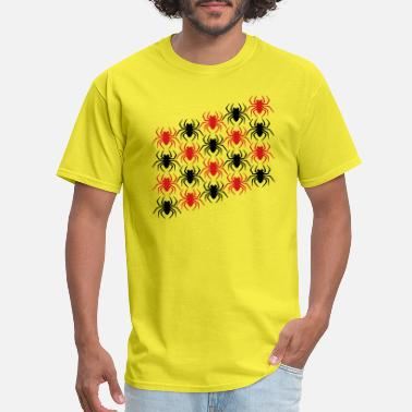 Spiders Art red cool many rows pattern spider logo design disg - Men's T-Shirt