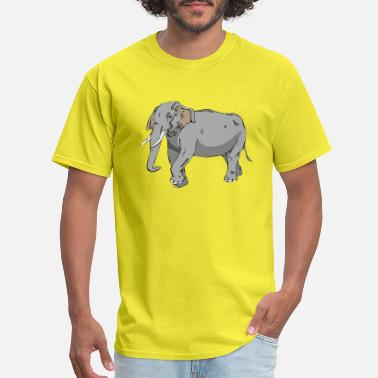 Graphics Vector-design Vector-graphic elephant in vector graphic design - Men's T-Shirt