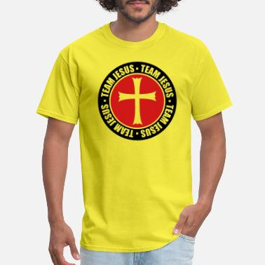 Cro religion circle stamp round team church symbol cro - Men's T-Shirt