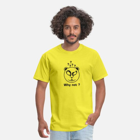 Panda T-Shirts - Why not Panda - Men's T-Shirt yellow