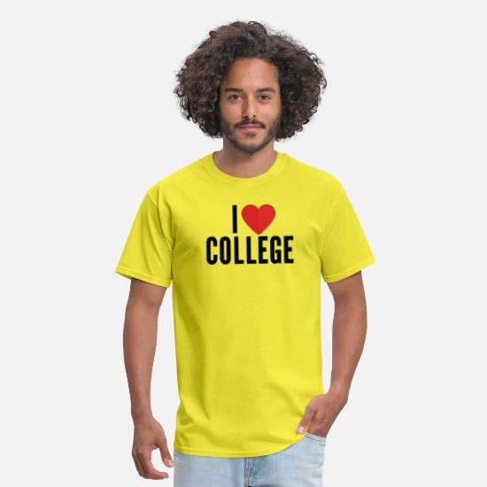 Love T-Shirts - I love college - Men's T-Shirt yellow