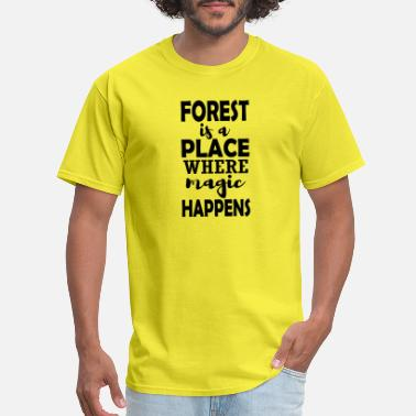 Climber Forest mountains hiking saying gift - Men's T-Shirt