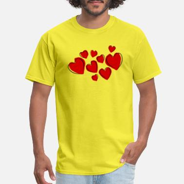 Welcome To The Family Hearts Love gift idea gift present - Men's T-Shirt