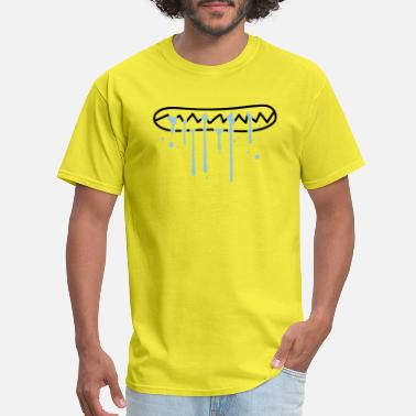 Water Drop water spit wet eat hunger face bite teeth crunchin - Men's T-Shirt