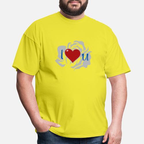 9976ade09d0d4 Men's T-ShirtI Love U, Heart, Love, Rose. Flowers For Friends