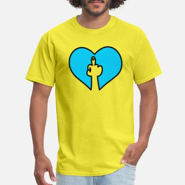 Hand Fuck You Fuck you hand heart - Men's T-Shirt