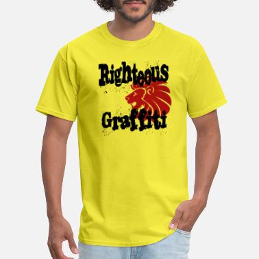 Christian Graffiti Righteous Graffiti - Men's T-Shirt